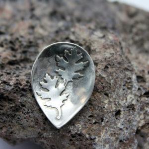 Echt Silber Kettenanhänger mit Ahornblätter
