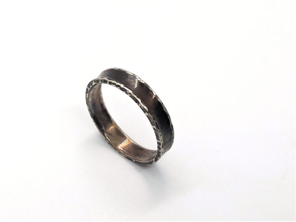 Ring aus Echt Silber geschwärzt